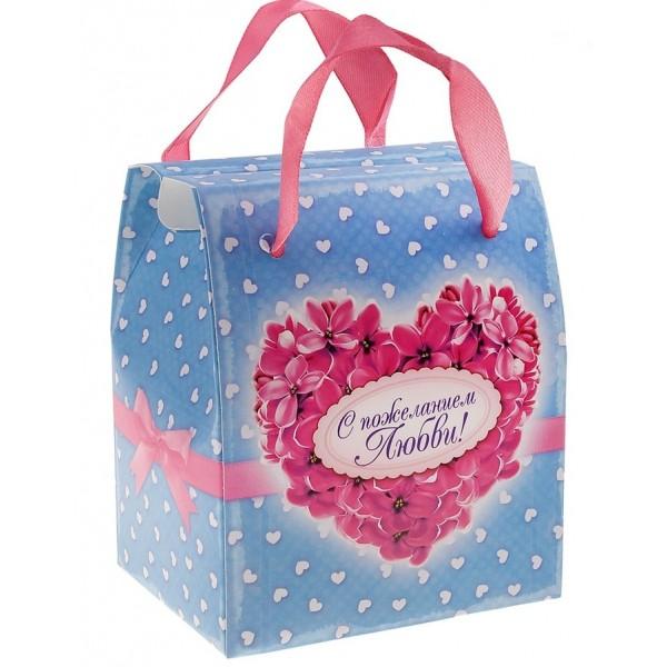 Подарочная коробка с поздравлениями
